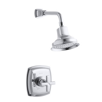 Kohler K-T16234-3-CP Margaux Rite-Temp Shower Faucet Trim With Cross Handle - Polished Chrome