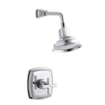 Kohler K-T16234-3-CP Margaux Rite-Temp Shower Faucet Trim With Cross Handle - Polished Chrome
