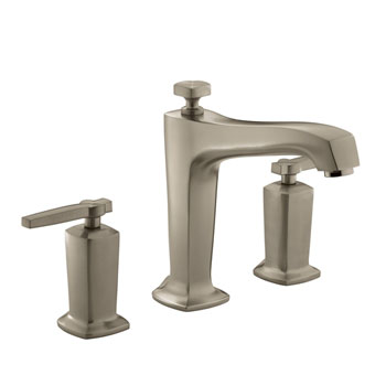 Kohler K-T16236-4-BV Margaux Two Handle Roman Tub Faucet Trim - Brushed Bronze