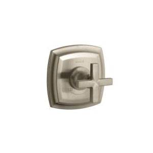 Kohler K-T16239-3-BV Margaux Thermostatic Valve Trim with Cross Handle - Brushed Bronze