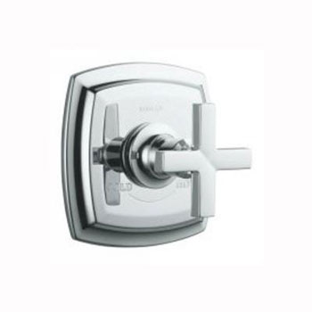 Kohler K-T16239-3-SN Margaux Thermostatic Valve Trim with Cross Handle - Polished Nickel