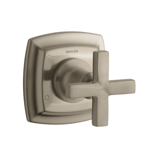 Kohler K-T16242-3-BV Margaux Transfer Valve Trim with Cross Handle - Brushed Bronze