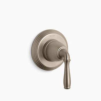 Kohler K-T376-4-BV Devonshire Wall Mounted Transfer Valve Trim - Vibrant Brushed Bronze (Pictured in Chrome)
