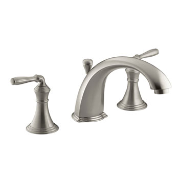 Kohler K-T387-4-BN Devonshire Double Handle Roman Tub Trim With Metal Lever Handles - Brushed Nickel