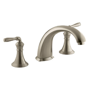 Kohler K-T398-4-BV Devonshire Deck/Rim Mount Roman Tub Filler Trim Kit - Vibrant Brushed Bronze