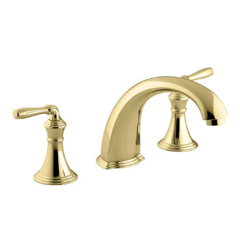 Kohler K-T398-4-PB Devonshire Two Handle Roman Tub Faucet Trim Kit - Polished Brass