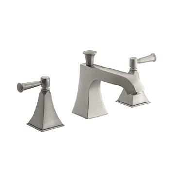 Kohler K-T428-4S-BN Memoirs Two Handle Deck-Mount High-Flow Bath Faucet Trim - Brushed Nickel