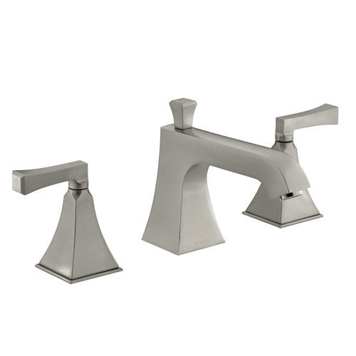 Kohler K-T428-4V-BN Memoirs Stately Double Handle Roman Tub Trim With Metal Lever Handles - Brushed Nickel