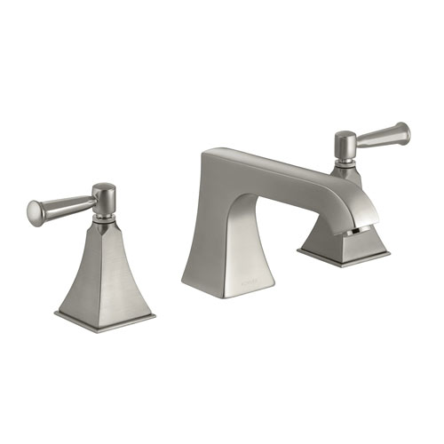 Kohler K-T469-4S-BN Memoirs Double Handle Roman Tub Trim with Metal Lever Handles - Brushed Nickel