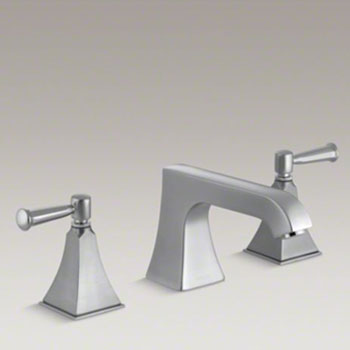 Kohler K-T469-4S-G Memoirs Double Handle Roman Tub Trim with Metal Lever Handles - Brushed Chrome