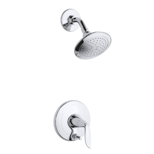Kohler K-T5319-4-CP Refinia Shower Trim with Push Button Diverter, Valve Not Included - Chrome