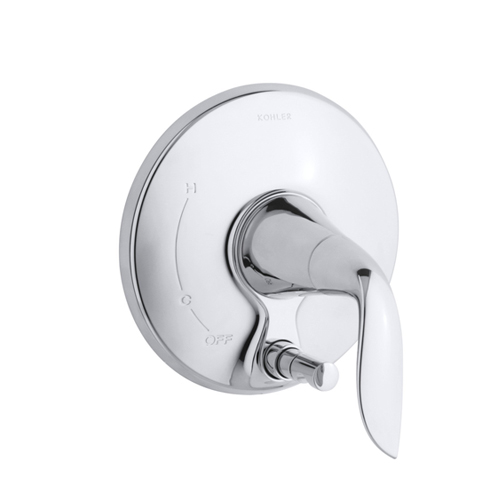 Kohler K-T5321-4-CP Refinia Valve Trim with Push Button Diverter, Valve Not Included - Chrome