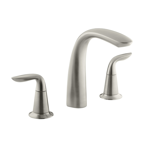 Kohler K-T5323-4-BN Refinia Bath Faucet Trim for High Flow Valve with Lever Handles, Valve Not Included - Brushed Nickel