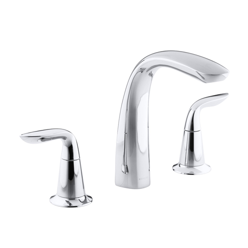 Kohler K-T5323-4-CP Refinia Bath Faucet Trim for High Flow Valve with Lever Handles, Valve Not Included - Chrome