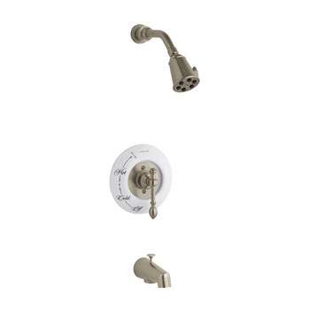 Kohler K-T6808-4D-BV IV Georges Brass Bath and Shower Faucet Trim Only - Brushed Bronze (Pictured w/Ceramic Dial Plate, Not Included)