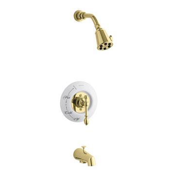 Kohler K-T6808-4D-PB Brass One Handle Tub & Shower Faucet Trim Kit - Polished Brass