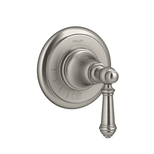 Kohler K-T72771-4-BN Artifacts Volume Control Valve Trim with Lever Handle - Brushed Nickel