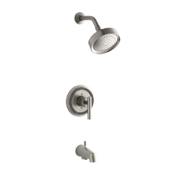 Kohler K-T8224-4-BN Taboret Rite-Temp Pressure-Balancing Bath and Shower Faucet Trim with Lever Handle Brushed Nickel
