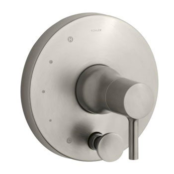Kohler K-T8979-4-BN Toobi Rite-Temp Valve Trim with Diverter, Valve Not Included - Brushed Nickel