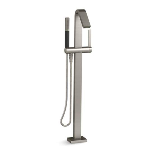 Kohler K-T97330-4-BN Loure Floor Mount Bath Filler with Handshower - Brushed Nickel