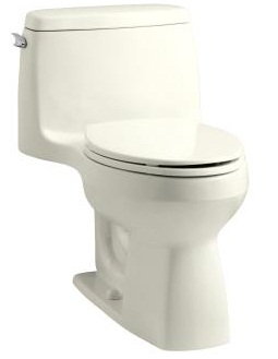 Kohler K-3810-96 Santa Rosa Comfort Height One Piece Compact Elongated Toilet - Biscuit