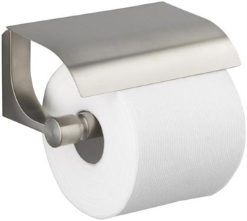 Kohler K-11584-BN Loure Covered Toilet Tissue Holder - Brushed Nickel