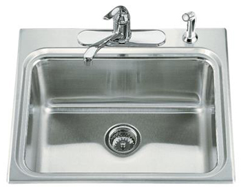 Kohler K-3208-4 Ballad Self-Rimming Utility Sink - Stainless Steel