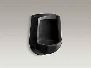 Kohler K-4989-R-7 Freshman Urinal with Rear Spud - Black