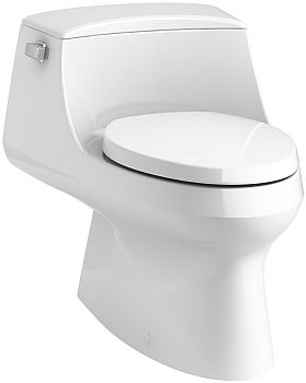 Kohler K-3722-0 San Raphael One-Piece Elongated 1.28 GPF Toilet with Left-Hand Trip Lever - White
