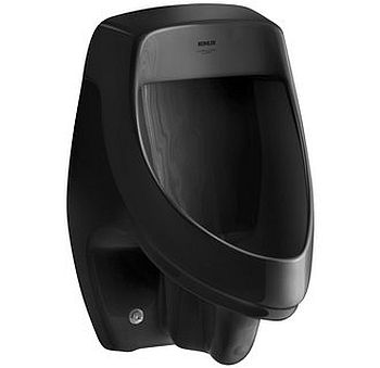 Kohler K-5016-ER-7 Dexter Elongated Urinal with Rear Spud - Black