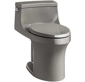 Kohler K-5172-K4 San Souci 1.28 GPF Elongated One-Piece Comfort Height Toilet with AquaPiston Technology - Seat Included - Cashmere