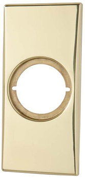 Kwikset 249 Medium Rectangular Rosette - Polished Brass