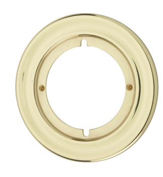 Kwikset 293 Small Round Escutcheon Plate - Satin Chrome (Pictured in Polished Brass)