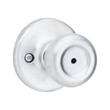 Kwikset 300M 26D Mobile Home Bed/Bath Knob - Satin Chrome