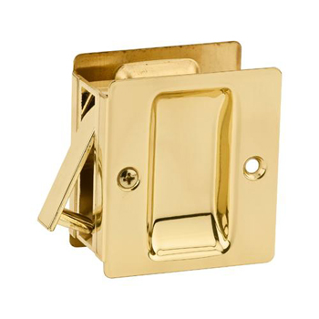 Kwikset 332 3 Notch Hall/Closet Pocket Door Lock - Polished Brass