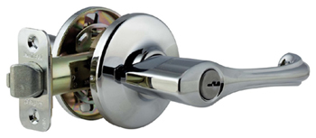Kwikset 405DNL Maximum Series Dorian Single Cylinder Keyed Entry Door Leverset - Polished Chrome
