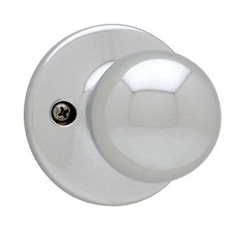Kwikset 488P Maximum Series Polo Single Dummy Door Knob - Polished Chrome