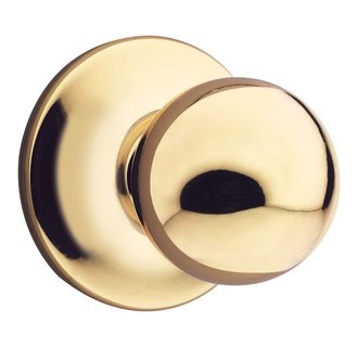 Kwikset 604P Polo Knob Interior Pack for Single Cylinder Handlesets - Polished Brass