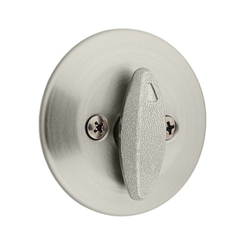 Kwikset 667 One Sided Deadbolt from the 660 Series - Satin Nickel