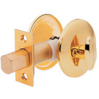 Kwikset 667 One Sided Deadbolt from the 660 Series - Polished Brass