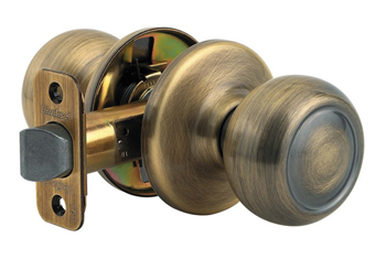 Kwikset 720C Signature Series Copa Passage Door Knob Set - Satin Nickel (Pictured in Antique Brass)