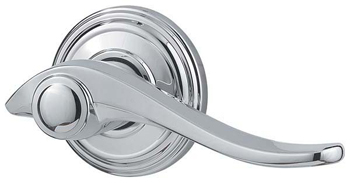 Kwikset 730AVL Avalon Privacy (Bed/Bath) Door Leverset - Polished Chrome