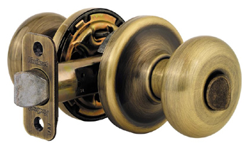 Kwikset 730H Signature Series Hancock Privacy Door Knob - Antique Nickel (Pictured in Antique Brass)