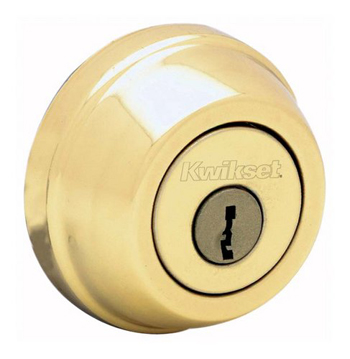 Kwikset 780 Single Cylinder Deadbolt - Lifetime Polished Brass