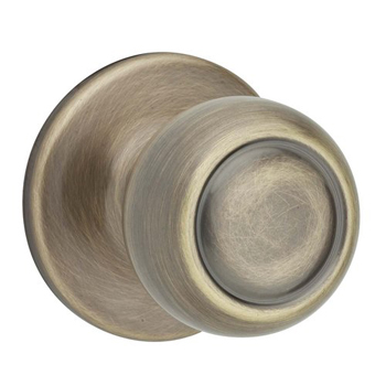 Kwikset 788C Signature Series Copa Single Dummy Door Knob - Antique Brass
