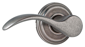 Kwikset 788PML-LH Signature Series Pembroke Left Hand Single Dummy Door Lever - Rustic Pewter