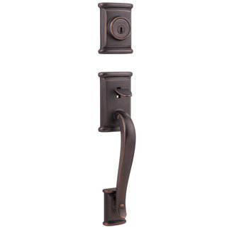 Kwikset 800ADH-LIP Ashfield Single Cylinder Sectional Handleset - Venetian Bronze