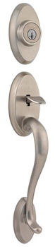 Kwikset 800SE-LIP-S Shelburne Single Cylinder Sectional Handleset with SmartKey Exterior Only - Satin Nickel