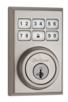 Kwikset 909CNT SmartCode Contemporary Electronic Deadbolt - Satin Nickel