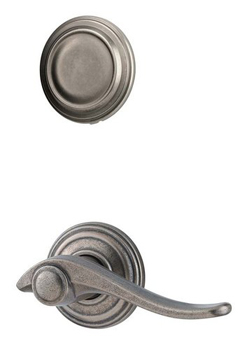 Kwikset 968AVL-LH Avalon Left Hand Dummy Interior Pack - Rustic Pewter